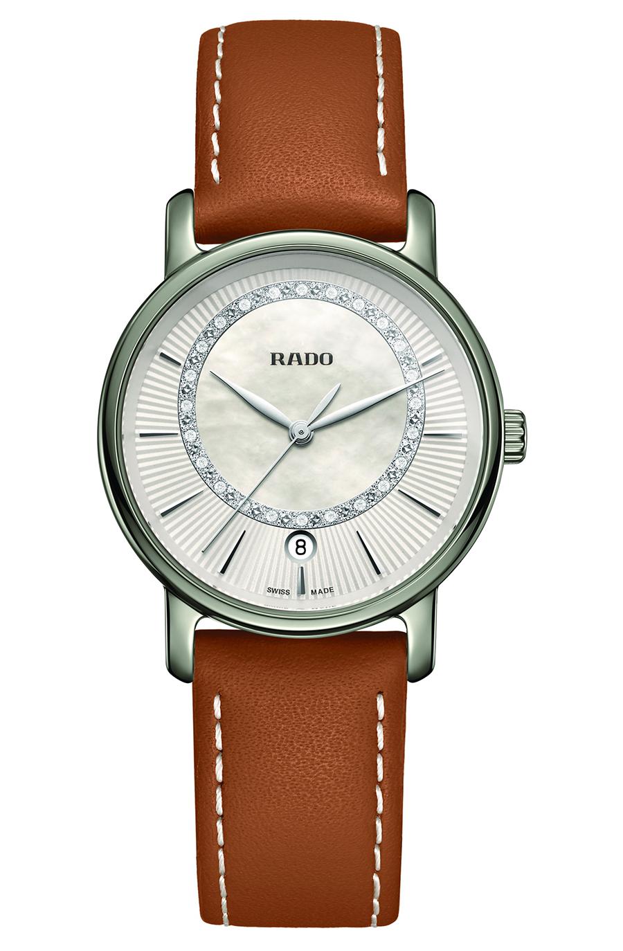 99 Rado DiaMaster Diamonds Cognac Leather 1