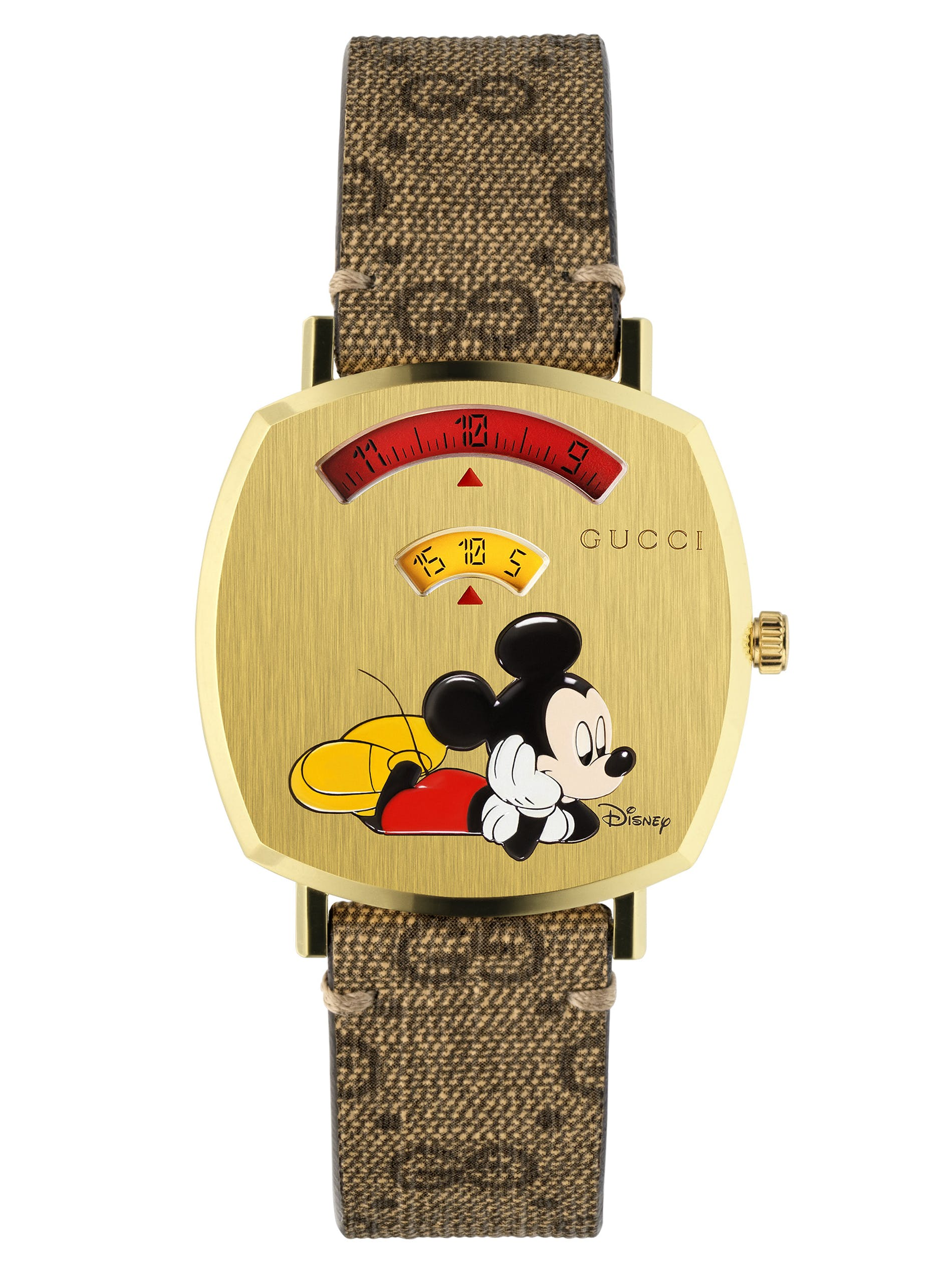 1578905082333312 Gucci Grip Mickey Mouse Yellow Gold