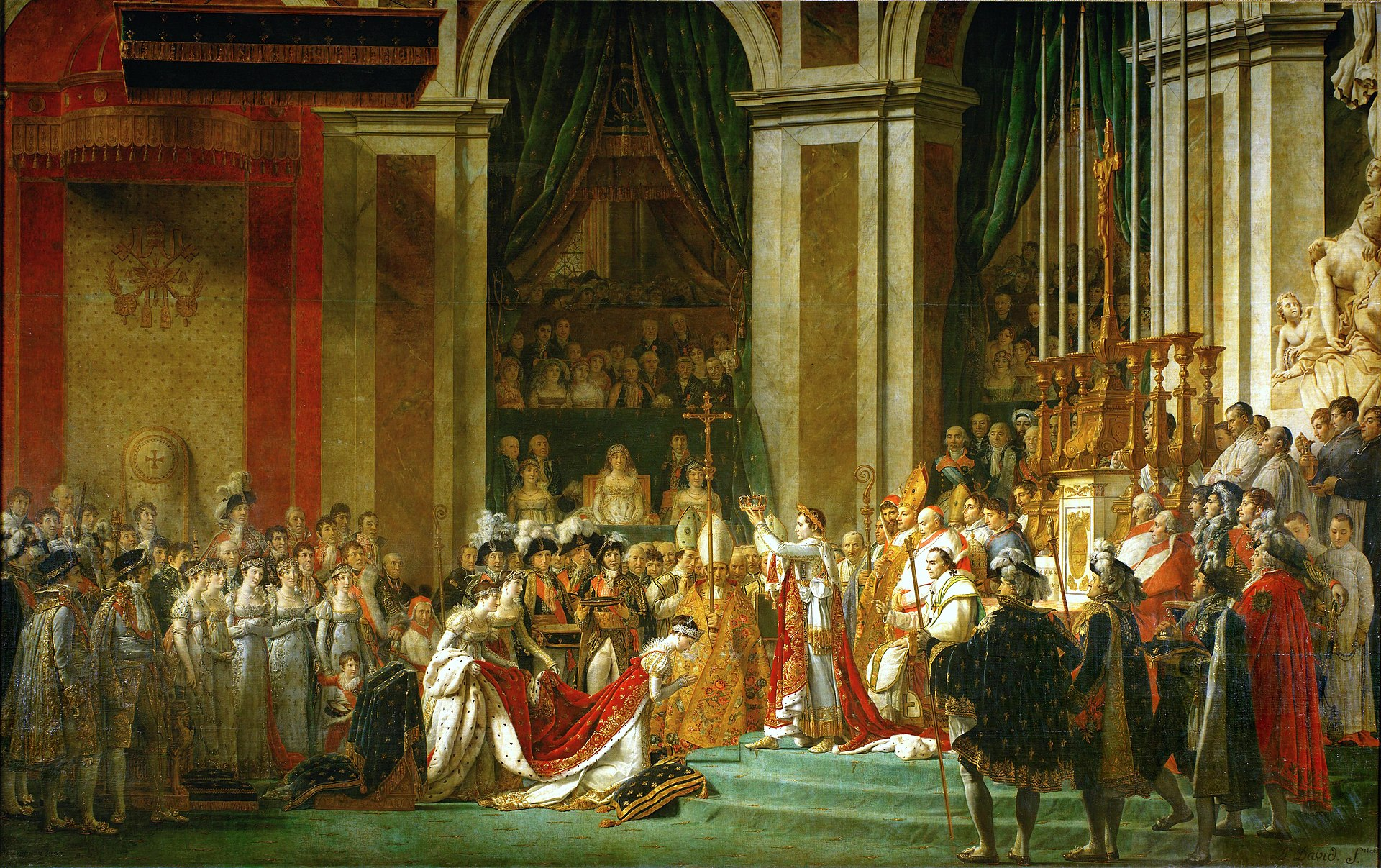1920px Jacques Louis David The Coronation of Napoleon 1805 1807